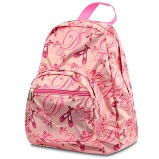 Zodaca Pink Ballerina Small Zipper Backpack Rucksack for Kids