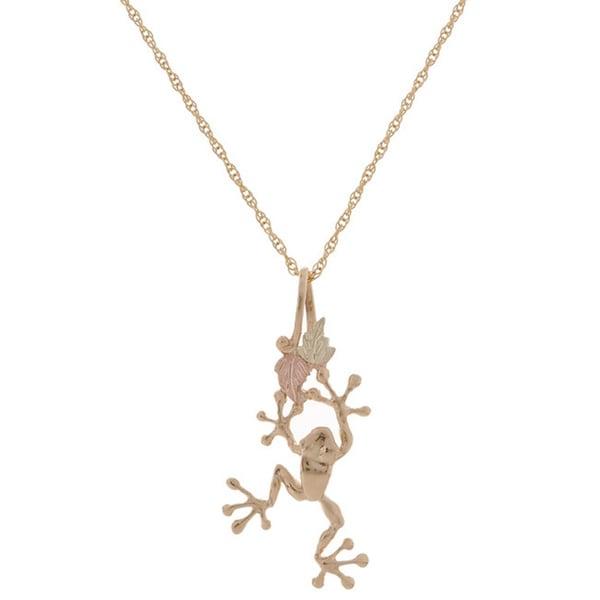 Black Hills Gold Tree Frog Pendant