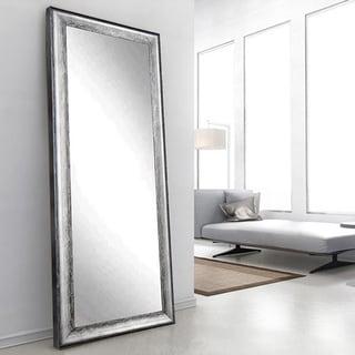Multi Size BrandtWorks Midnight Silver Large Floor Mirror   Black/Silver