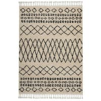 "Nourison Moroccan Marrakesh Shag Cream Area Rug - 2'2"" x 4'"