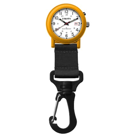 Dakota 'Light EL Backpacker' Orange Carabiner Clip Watch