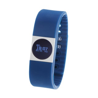 Zunammy Black Activity Tracker Watch with Call and Message Reminders - Blue