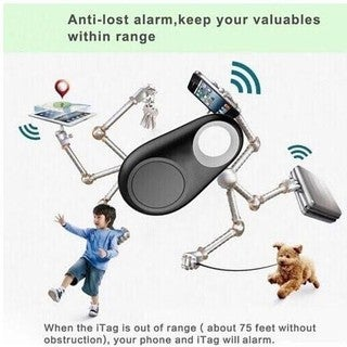 Slver iTag Anti-Lost Theft Device Alarm - Bluetooth Smart Remote GPS Tracker for all