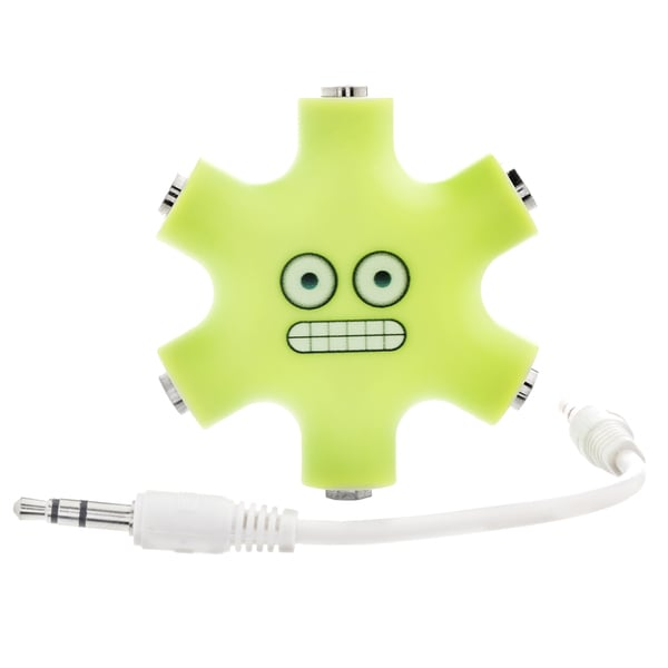 EMOJI 5-Way 3.5mm Stereo Audio Headset Hub Splitter Up to 5 Headphones to iPod MP3 Player Music Sharing Device with Stereo Cable