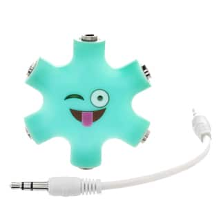 EMOJI 6-Way 3.5mm Stereo Audio Headset Hub Splitter Up to 5 Headphones to iPod MP3 Player Music Sharing Device with Stereo Cable|https://ak1.ostkcdn.com/images/products/16633503/P22958013.jpg?impolicy=medium
