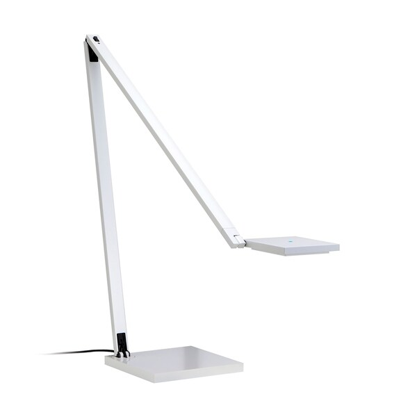 Sonneman Lighting Quattro- LED Gloss White Task Lamp, White Shade