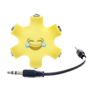 EMOJI 6-Way 3.5mm Stereo Audio Headset Hub Splitter Up to 5 Headphones to iPod MP3 Player Music Sharing Device with Stereo Cable