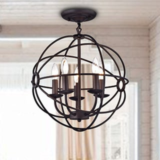 Honorine Bronze 16-inch 5-light Globe Pendant Light