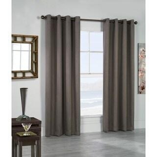 Belize Solid Color Insulated Curtain Panel Pair