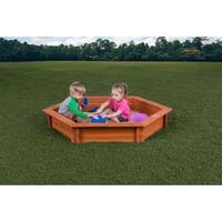 "Creative Cedar Designs Hexagon Sandbox with Cover (4'9"" x 4'3"")"