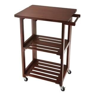Wolfgang Puck Foldable All-Wood Kitchen Cart (Option: Beige)|https://ak1.ostkcdn.com/images/products/16634325/P22958701.jpg?impolicy=medium