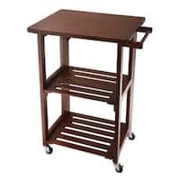 Wolfgang Puck Foldable All-Wood Kitchen Cart