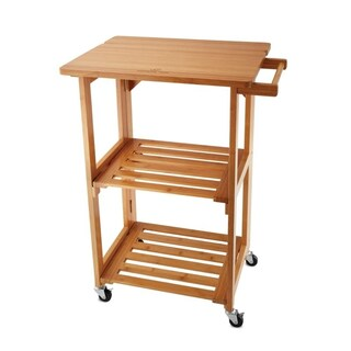 Wolfgang Puck Foldable All-Wood Kitchen Cart