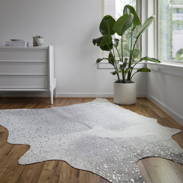 Shop Alexander Home Clayton Faux Cowhide Area Rug On