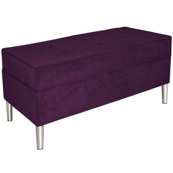 Skyline Furniture Storage Bench In Velvet