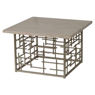Segments Marble and Metal Square Cocktail Table