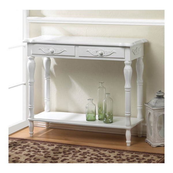 Shop koehler home decor carved white hallway table free for Koehler home decor