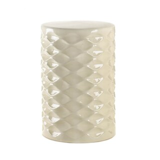 Koehler Home Decor Ivory Ceramic Stool