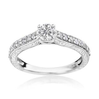 SummerRose 14k White Gold 3/4ct TDW Diamond Engagement Ring