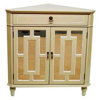 Buy triangle coffee console sofa end tables online at overstock becker wooden single drawer 2 door corner cabinet w lattice mirror inserts watchthetrailerfo