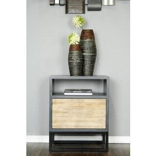 Nova Grey Wood 1-shelf 1-drawer End Table
