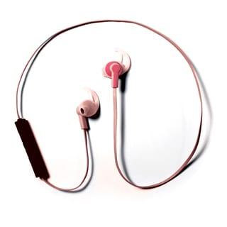 Bluetooth Sport headphones, Zbudz By Zunammy wireless 4.1 Flexible earbuds - Pink