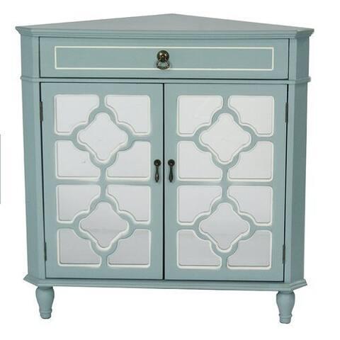 Frasera Wood Quatrefoil Corner Cabinet