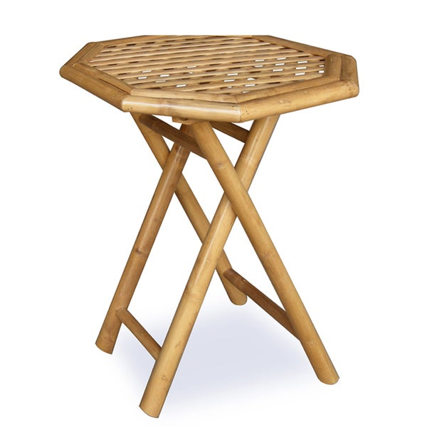 Oahu Bamboo Octagonal Folding End Table