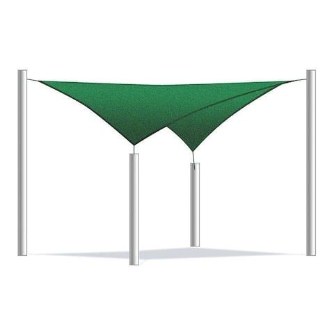 ALEKO Sun Sail Shade UV Block Fabric Patio Outdoor Shelter 12 x 12 ft