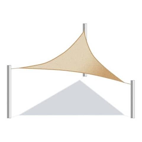 ALEKO Triangular Waterproof Sun Shade Sail Canopy 12 X 12 X 12 Feet