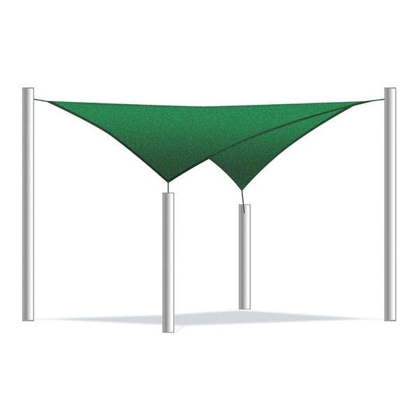 Shop Aleko Square 10 X 10 Foot Sun Sail Shade Net Uv Block Fabric