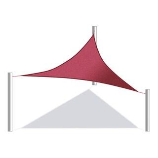 ALEKO Triangular Waterproof Sun Shade Sail Canopy 10 X 10 X 10 Feet