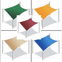 ALEKO Rectangle 13 X 10 Feet Waterproof Sun Shade Sail Canopy Tent Replacement