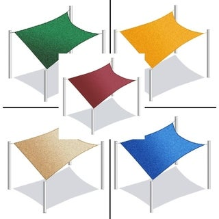 ALEKO Rectangle 12 X 12 Feet Waterproof Sun Shade Sail Canopy Tent Replacement
