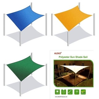 ALEKO Rectangle 10 X 10 Feet Waterproof Sun Shade Sail Canopy Tent Replacement