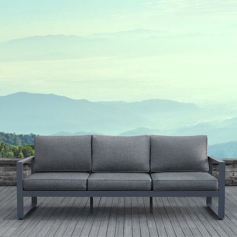 Real Flame Baltic Outdoor Sofa in Grey