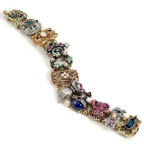 Sweet Romance Vintage Balmoral Victorian Link Slide Bracelet - Gold