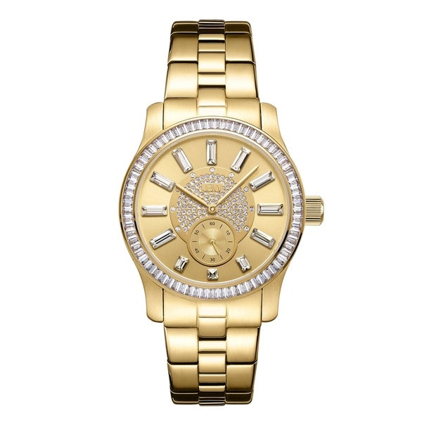 JBW Women's Celine.09 ctw 18k gold-plated stainless-steel Diamond Watch
