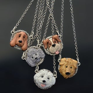 Sweet Romance Dog Lover Pendant Necklace - Multiple Breeds