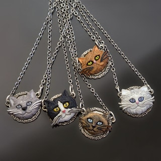Sweet Romance Cat Lover Pendant Necklace