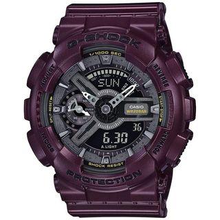 Casio Men's GMAS110MC-6A 'G-Shock' Analog-Digital Putple Resin Watch