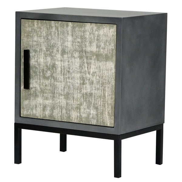 Nova Grey Wood 1-door Accent Cabinet