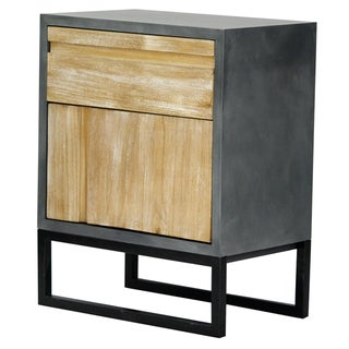 Nova Grey Wood 1-drawer 1-door Accent Cabinet