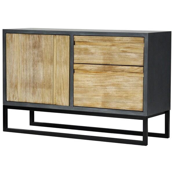 Nova Grey Iron and Wood 2-drawer Sideboard