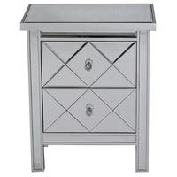 Emmy 2-drawer Mirrored Tall Accent Chest