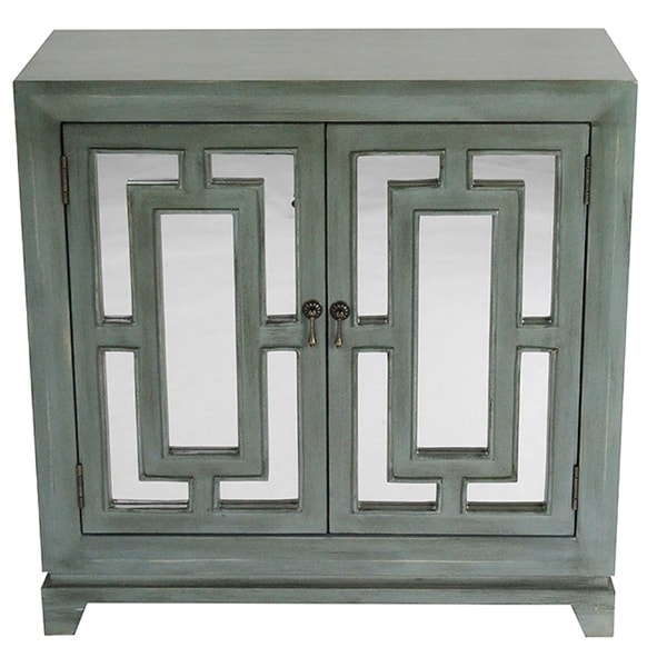 14ebc5ce1a7 Shop Geo Double-door Sideboard with Mirror Inserts - Free Shipping ...
