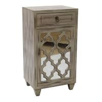 Aria 1 Drawer 1 Door Accent Cabinet With Arabesque Mirror Inserts Overstock 16634793