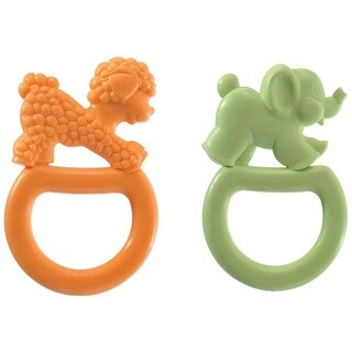 Vulli Vanilla Teething Rings - 2 Pack - Orange/Green