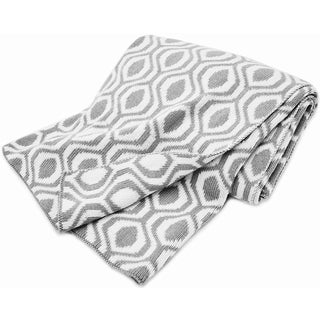 American Baby Company Grey Ogee 100-percent Cotton Sweater Blanket