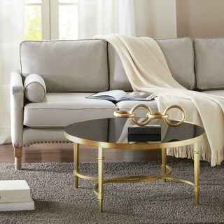 Madison Park Mario Gold Round Coffee Table